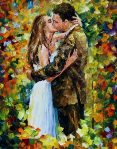 kiss-in-the-woods-leonid-afremov