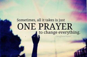 prayer changes