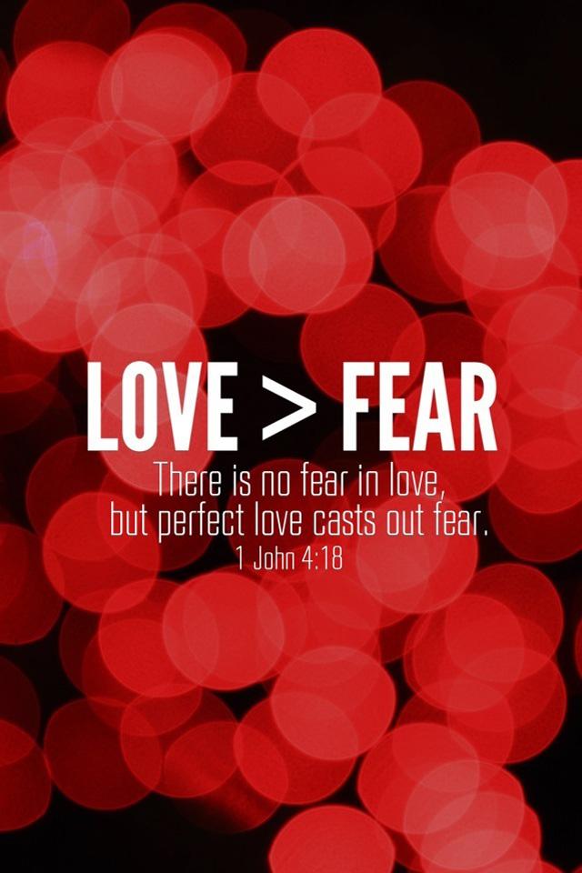 Love Fear 1 John 4 18 Red Bible Lock Screens Christian Iphone