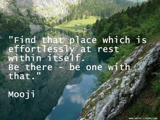 relaxing-quotes-Mooji-reflections-water-mountains-Archi-living-D